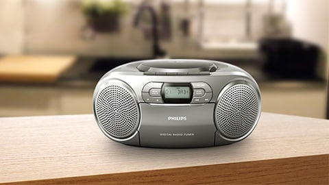 Reproductor de CD Philips, radio portátil